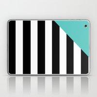 Triangle Stripes (Turquoise) Laptop & iPad Skin