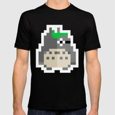 pixel guy SMALL Black Mens Fitted Tee