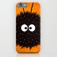 iPhone & iPod Case featuring Orange Cute Dazzled Bug Winter by Boriana Giormova