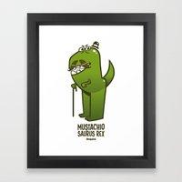 Mustachio Saurus Rex Framed Art Print