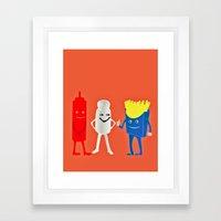 We compliment each other Framed Art Print