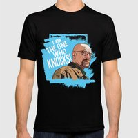 The One Who Knocks Mens Fitted Tee Black SMALL