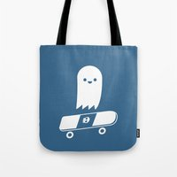 Skate Ghost Tote Bag