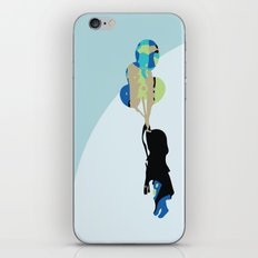 Little Girl With Balloons iPhone & iPod Skin
