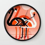 Posse - Flamingo Throwba… Wall Clock
