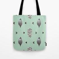 Feather Arrow Blue Tote Bag