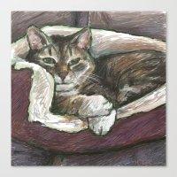 Pet Portrait 1  Canvas Print