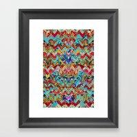 Wild Chevron- Indian Sty… Framed Art Print