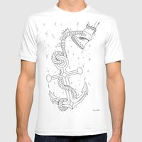 We Are Sinking Mens Fitted Tee White SMALL