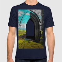 Portal Mens Fitted Tee Navy SMALL