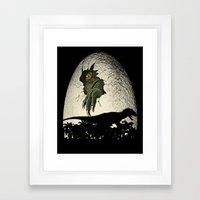 A Nightmare Is Born. Framed Art Print