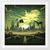 Radioactive Tranquility Art Print