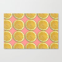 Lemons Citrus Fruit Colo… Canvas Print