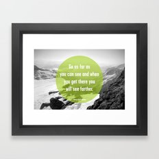As Far As You Can See Framed Art Print