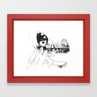 Pierrot the clown Framed Art Print