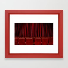 'RED CURTAIN CALL' Framed Art Print