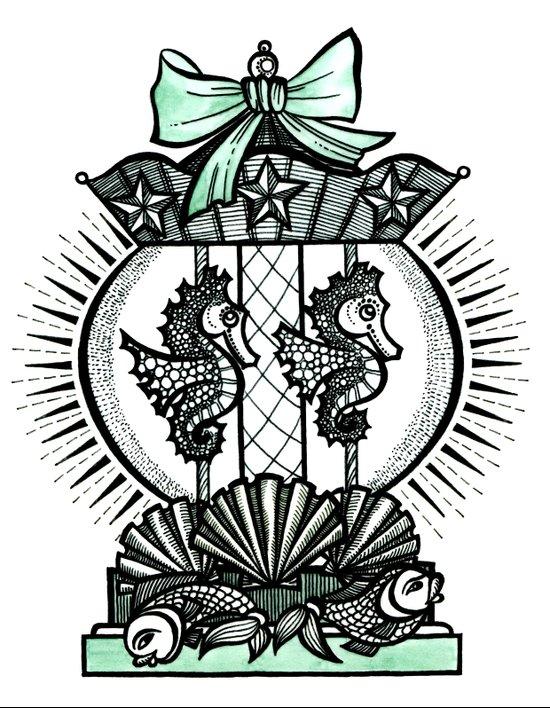 Carousel snowball Art Print