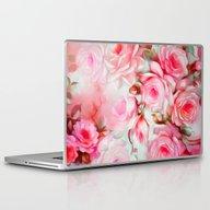 Laptop & iPad Skin featuring Shabby Chic Pink by Jacqueline Maldonado