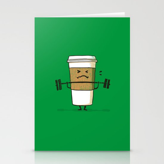 Strong Coffee Stationery Card