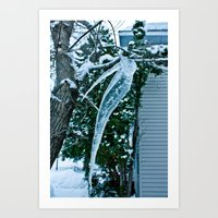 Wicked Icicle  Art Print