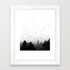 Attack of the Bats Framed Art Print