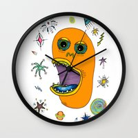 Planet eating monster Wall Clock