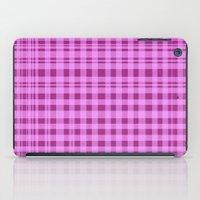 Purple Checkers. iPad Case