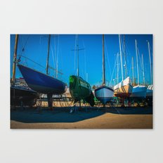Winter Island Boats Canvas Print
