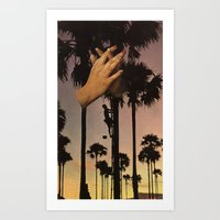 Wrapped In Fingers Art Print