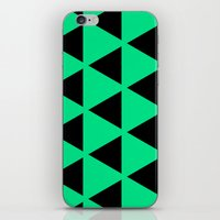 Sleyer Black On Green Pa… iPhone & iPod Skin