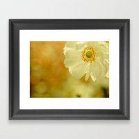 The last flower of autumn Framed Art Print