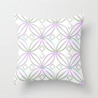 Floral Pattern - JUSTART… Throw Pillow