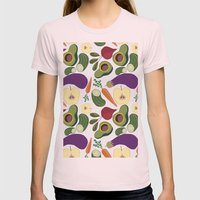 vegetables Womens Fitted Tee Light Pink SMALL