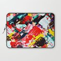 Red Intersections Laptop Sleeve