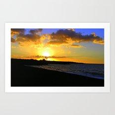 Sunset on the Kona Coast Art Print