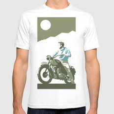 the great escape Mens Fitted Tee White SMALL