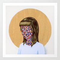 6x6 Woman Art Print