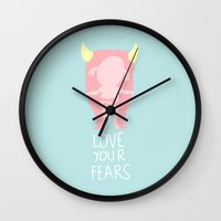 Love your fears Wall Clock