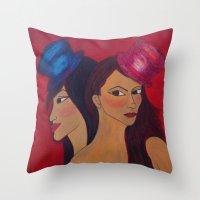 Show Girls Throw Pillow