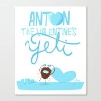 Anton, the Valentine´s Yeti Canvas Print