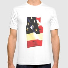 American Homemaker  SMALL White Mens Fitted Tee