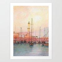 La Lanterna Di Genova Art Print