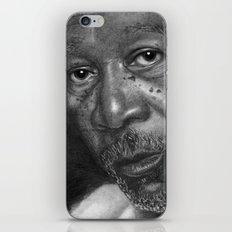 Morgan Freeman Traditional Portrait Print iPhone & iPod Skin