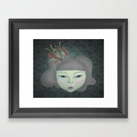Aqua Framed Art Print