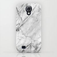 Galaxy S4 Cases featuring Marble by Patterns and Textures