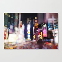 Times Square Blurrr-Bokeh Canvas Print