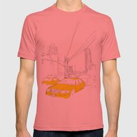 Cross Town Traffic Mens Fitted Tee Pomegranate SMALL