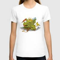 Furious Fowl Womens Fitted Tee White SMALL