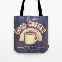 Good Coffee Polaroid Tote Bag
