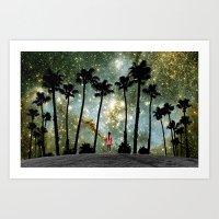 Paradise Galaxy Dream Art Print